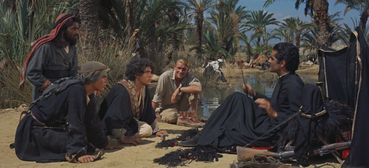 An example still from Lawrence of Arabia. Scanned in at 8K in 2012, this frame has been downsampled to 1080p - but you can still see the quality.