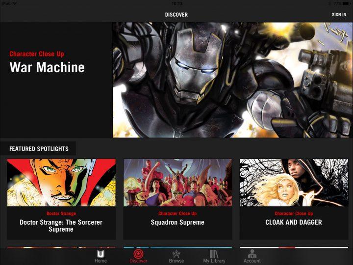 Comics on iPad: Marvel Unlimited - Best CBR Reader
