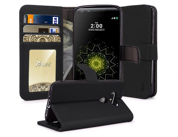 Tauri LG G5 Wallet Kickstand Case