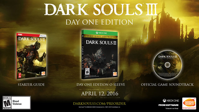 dark souls 3 day one edition