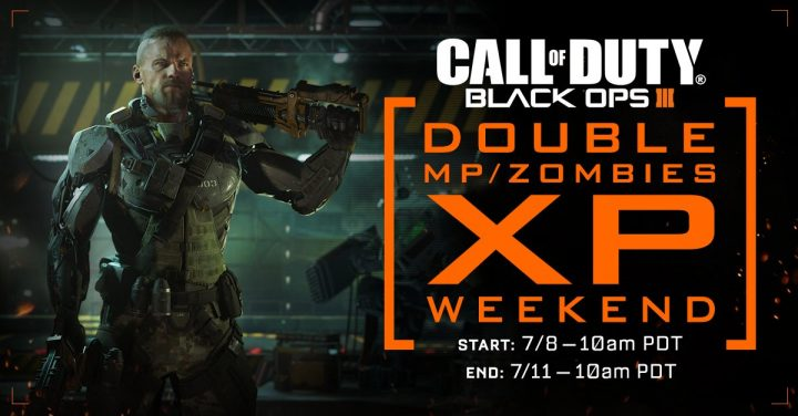 The July Black Ops 3 Double XP weekend starts today.