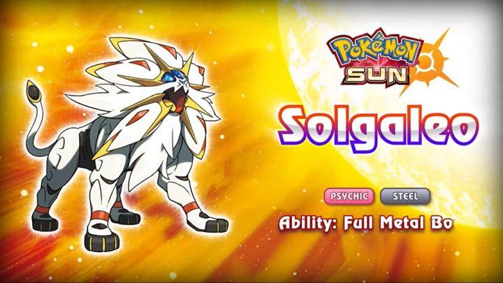 New Legendary Pokemon for Sun and Moon