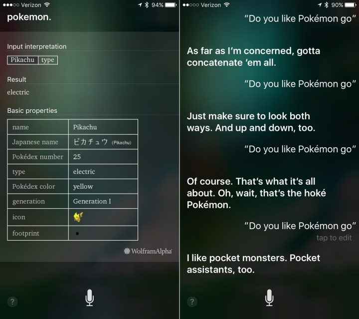 Siri is ready for Pokemon and Pokemon Go.