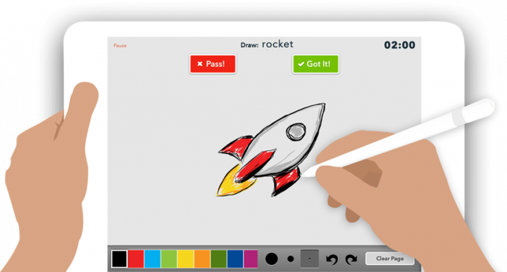 Check out SketchParty TV, a fun Apple TV app that is a high-tech Pictionary or Win, Lose or Draw style game.