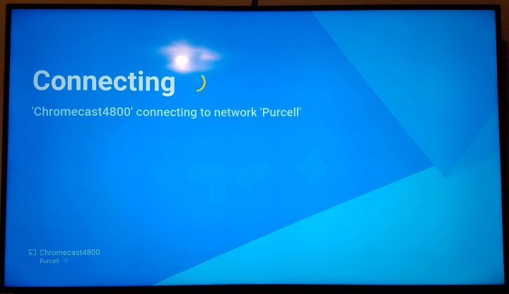chromecast connecting to network