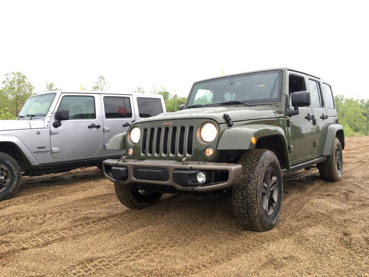 Aggressive bumpers and hood vents add to the look that the Sarge Green color completes.