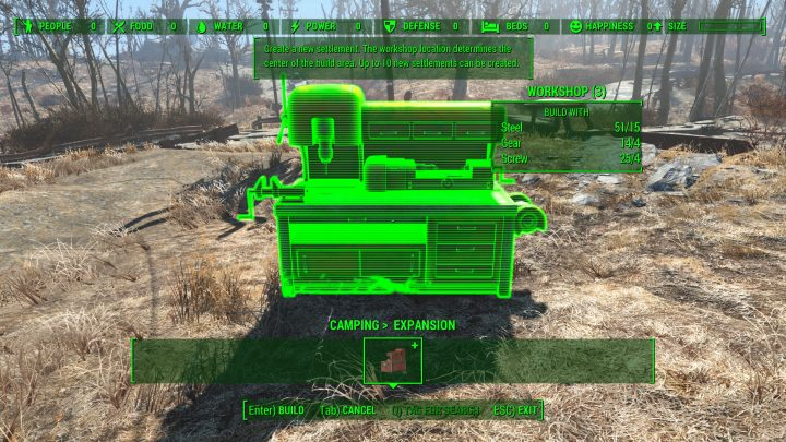 Conquest: Build New Settlements and Camping