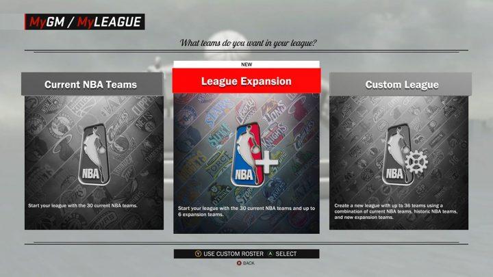nba 2k17 my league expansion