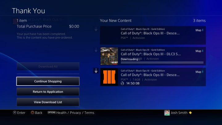 The Black Ops 3 DLC 3 release time is 12:01 AM Eastern.