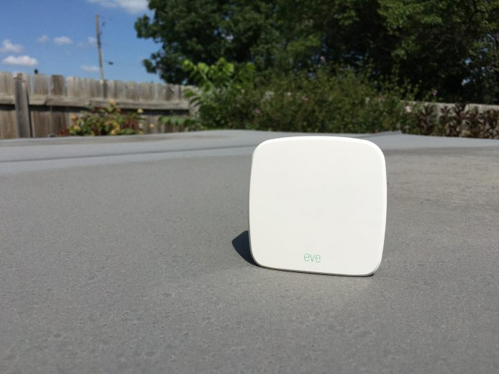 The Elgato Eve Weather is a small personal weather station for your backyard.