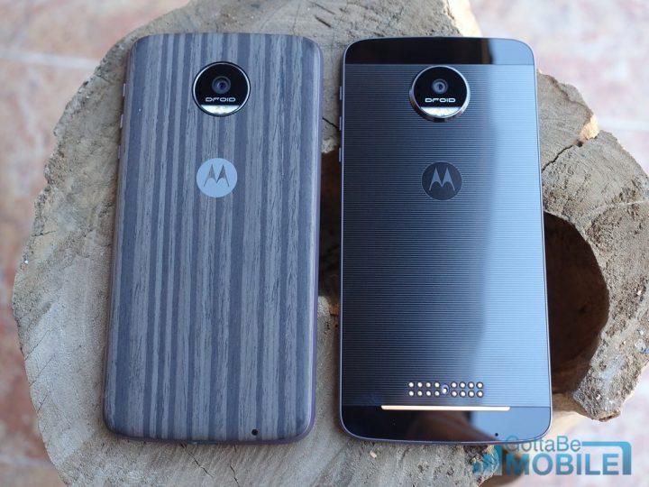 Note 7 vs Moto Z: Design