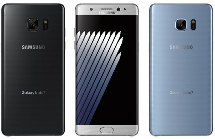 This is the Galaxy Note 7 in Black, Silver Titanium and Blue Coral