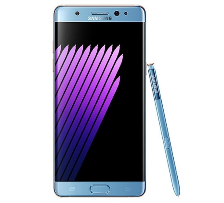 Coral Blue and Gold Galaxy Note 7