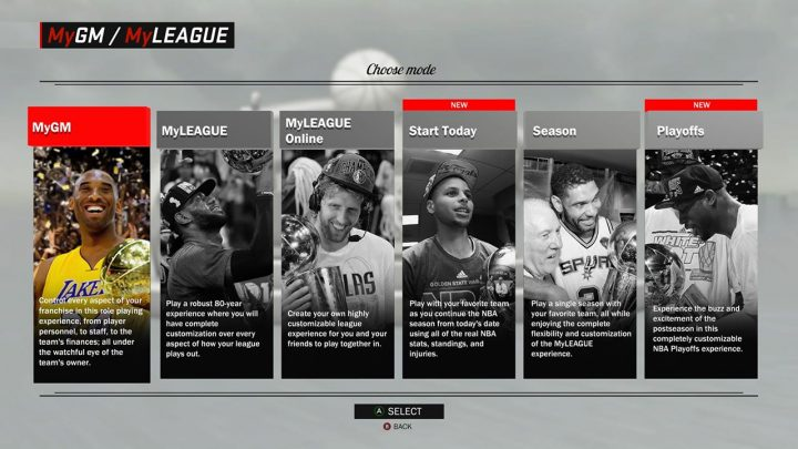 NBA 2K17 Features: MyLeague Expansions