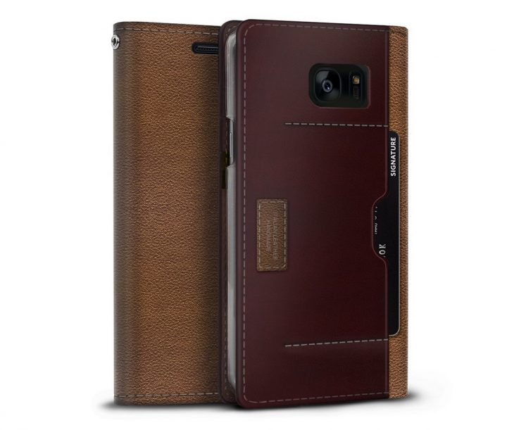 Note 7 Genuine Leather Wallet Case