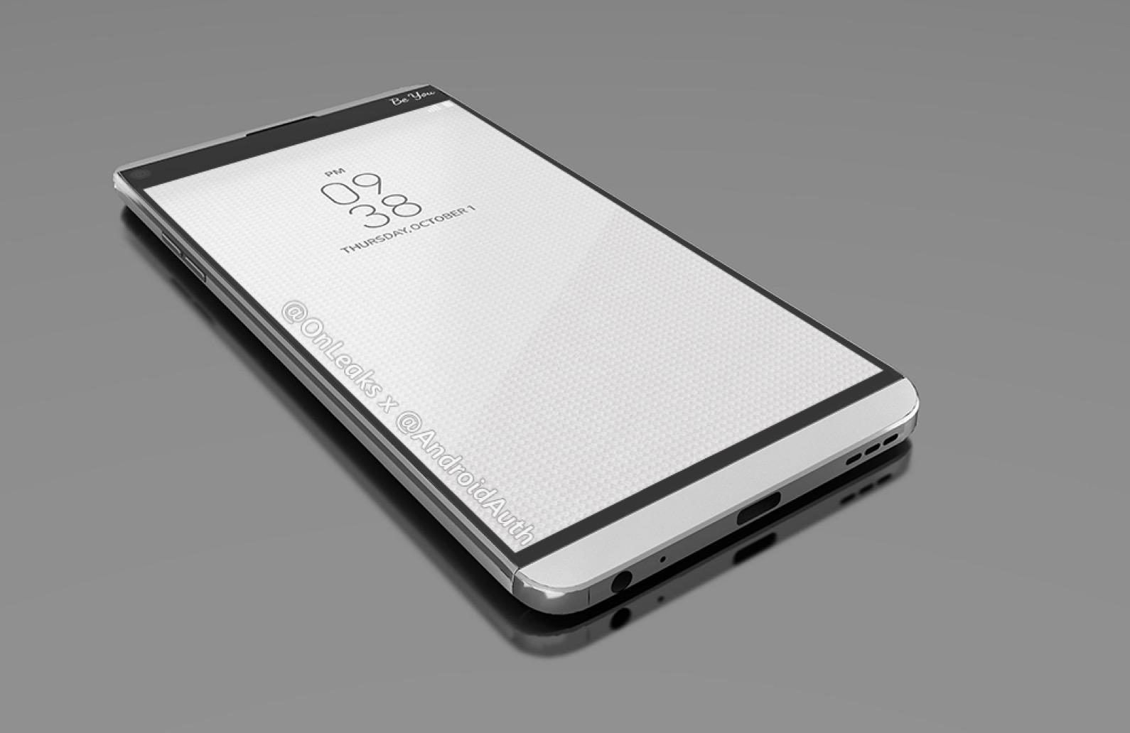 Render based on leaked information about the LG V20