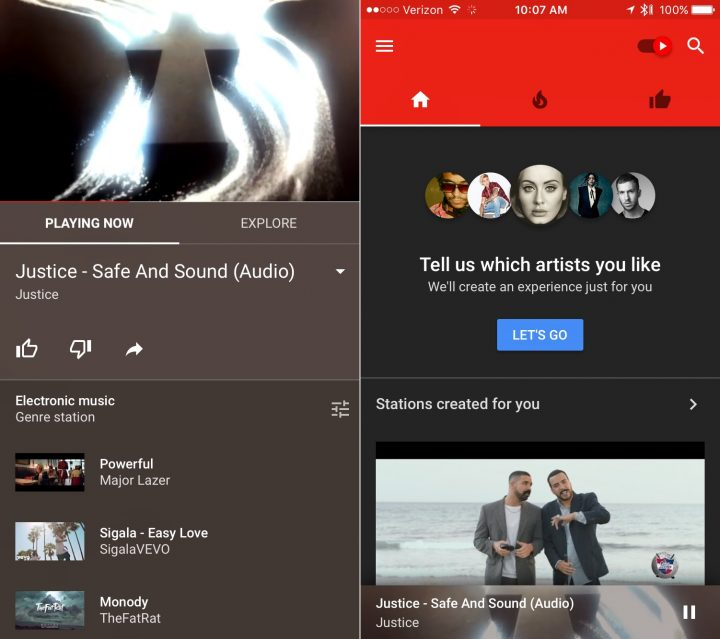 If you want the YouTube Music Family Plan you need to buy the Google Play Music Family Plan that includes YouTube Red for six people.