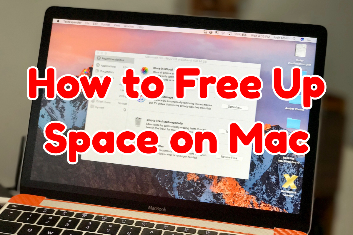 How to free up space on Mac with the macOS Sierra Storage Optimize feature.