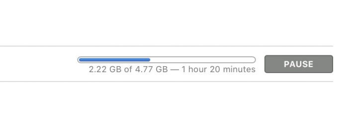 macOS Sierra download times will vary.