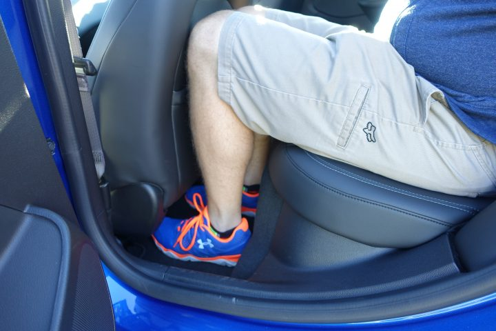 There is a decent amount of legroom in the Chevy Cruze.