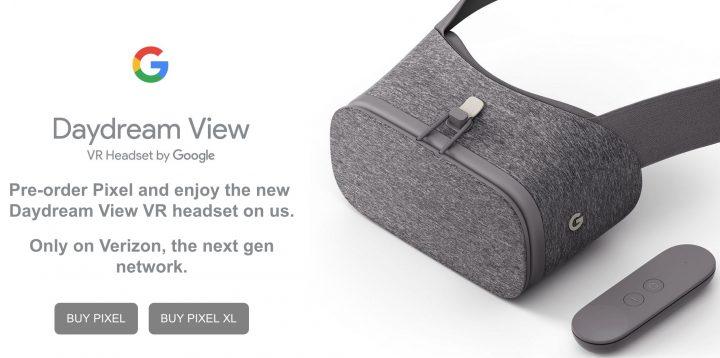 Verizon Pre-Orders get a Free DayDream VR