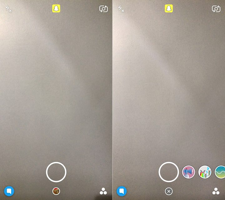 Tap to open the Snapchat World Lenses.