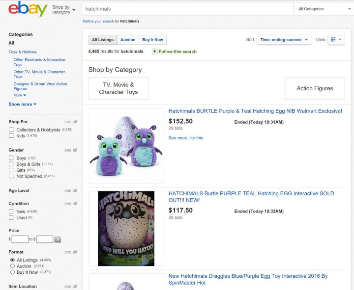 hatchimals-on-ebay