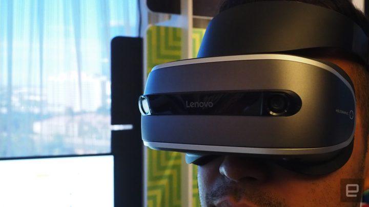 The Lenovo VR Headset for Windows 10 / Engadget