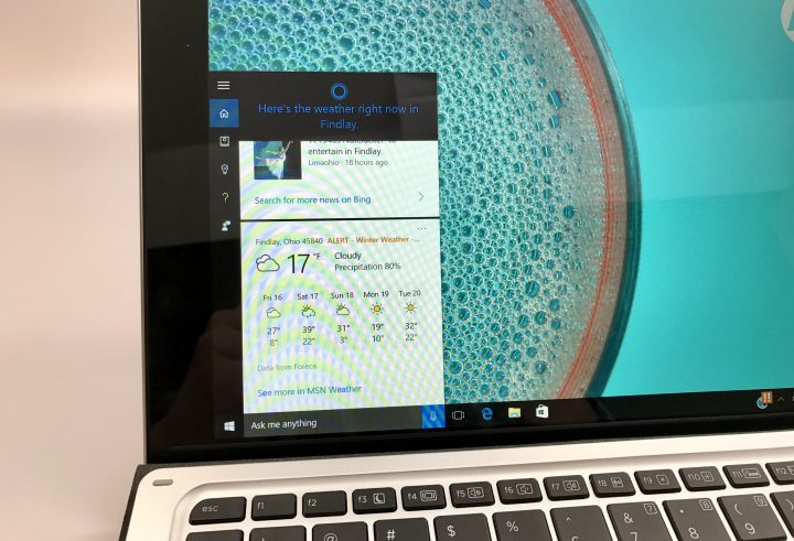 Use Cortana to find information quickly.