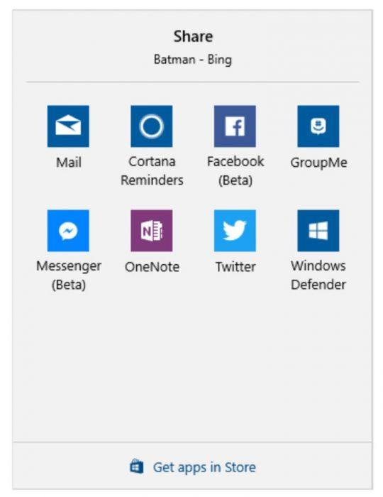 Share Windows 10 Creators Update