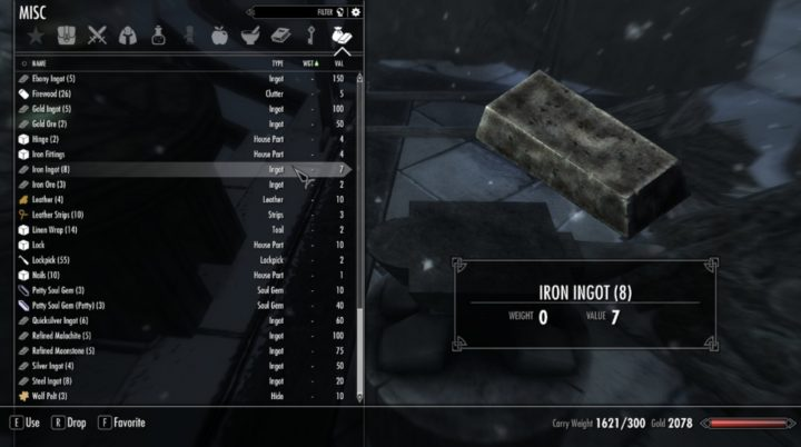 Weightless Crafting Items
