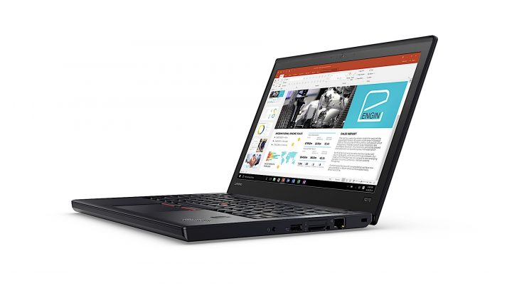 The ThinkPad X270 now features a touch screen.