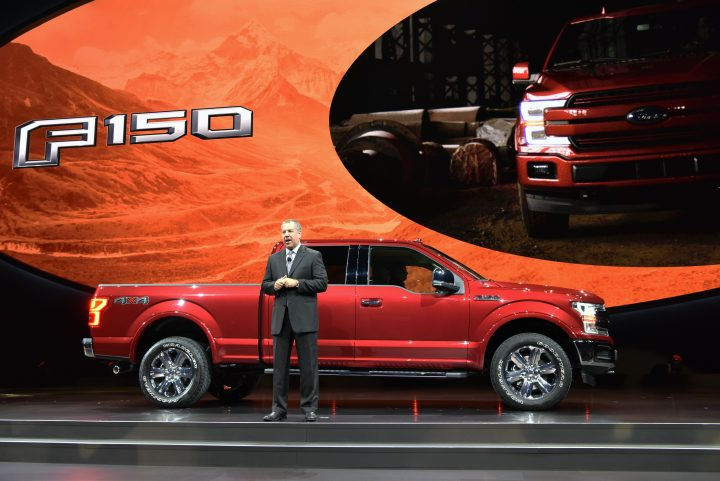Ford announces the 2018 Ford F-150 at the Detroit Auto Show. Credit: Ford.