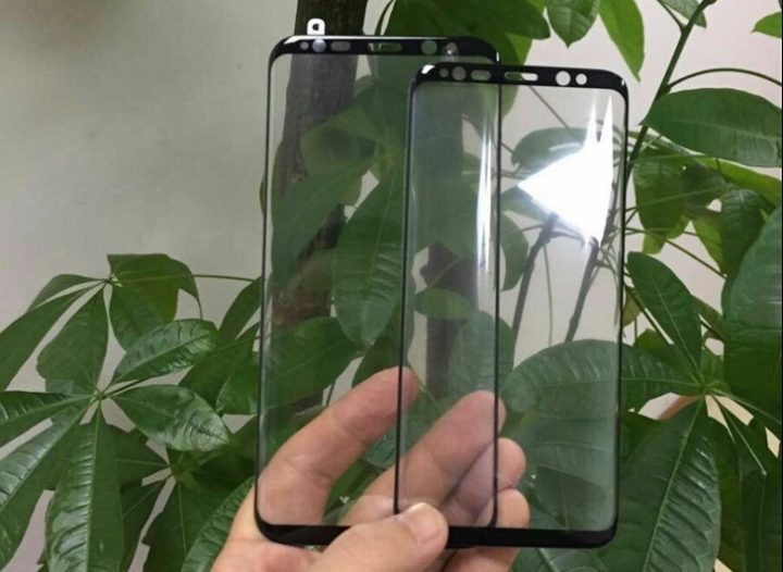 Leaks front face of the Galaxy S8 and S8 Plus. Huge screens, tiny bezels