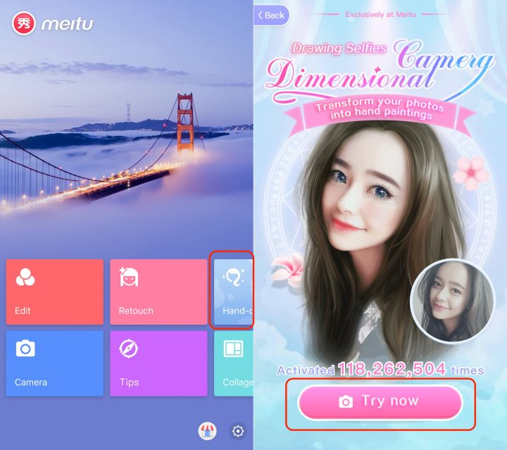 How to use Meitu to turn yourself into an anime character.