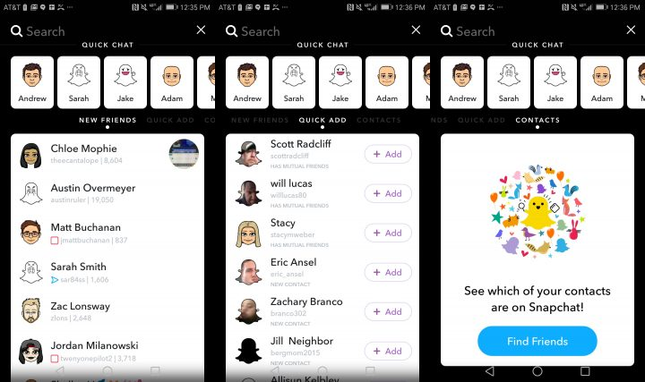 With Snapchat search you can find people, groups and new people to follow.