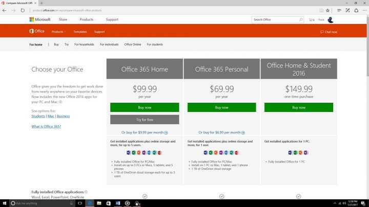 setup office 365