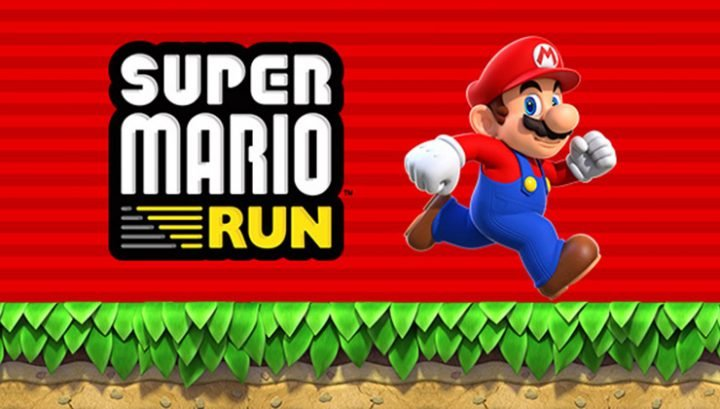 super mario run logo and Mario