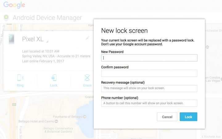 Add a new lockscreen password using ADM