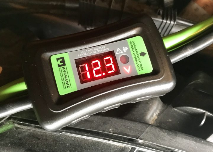 Quickly check the status of your battery with the included voltage meter.