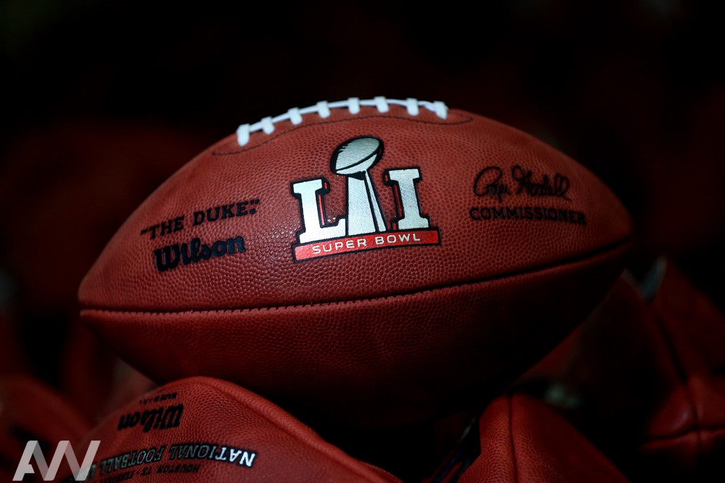 The Super Bowl LI football. Credit: Andrew Weber Photography