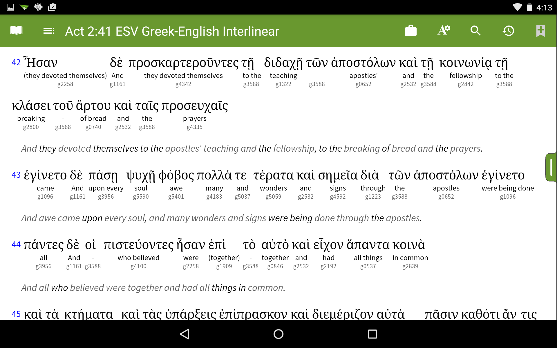 olive tree bible on android for chromeos