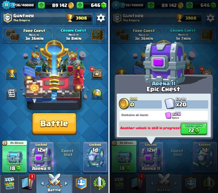 Keep Track of Free Chests