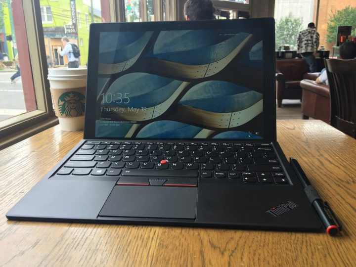 The Lenovo ThinkPad X1 Tablet.