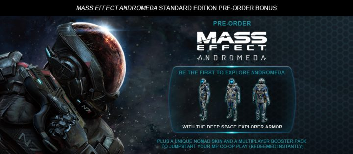 Mass Effect Andromeda pre-order extras.