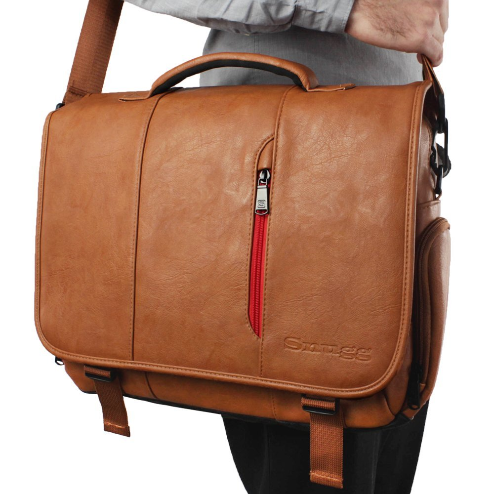 snugg 15-inch messenger bag shoulder