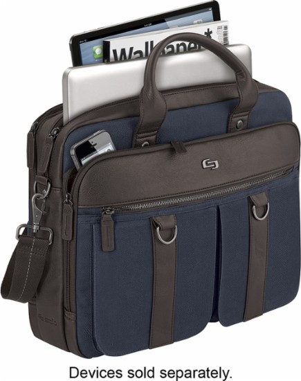 solo badford laptop briefcase top opening
