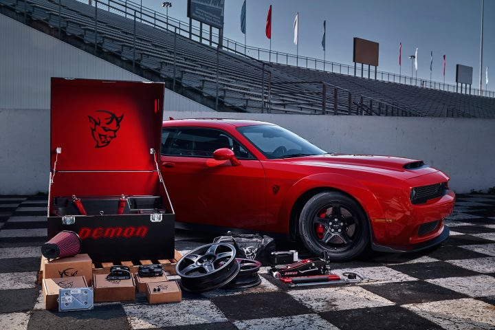 The 2018 Dodge Demon includes a Demon Crate with high-performance goodies.