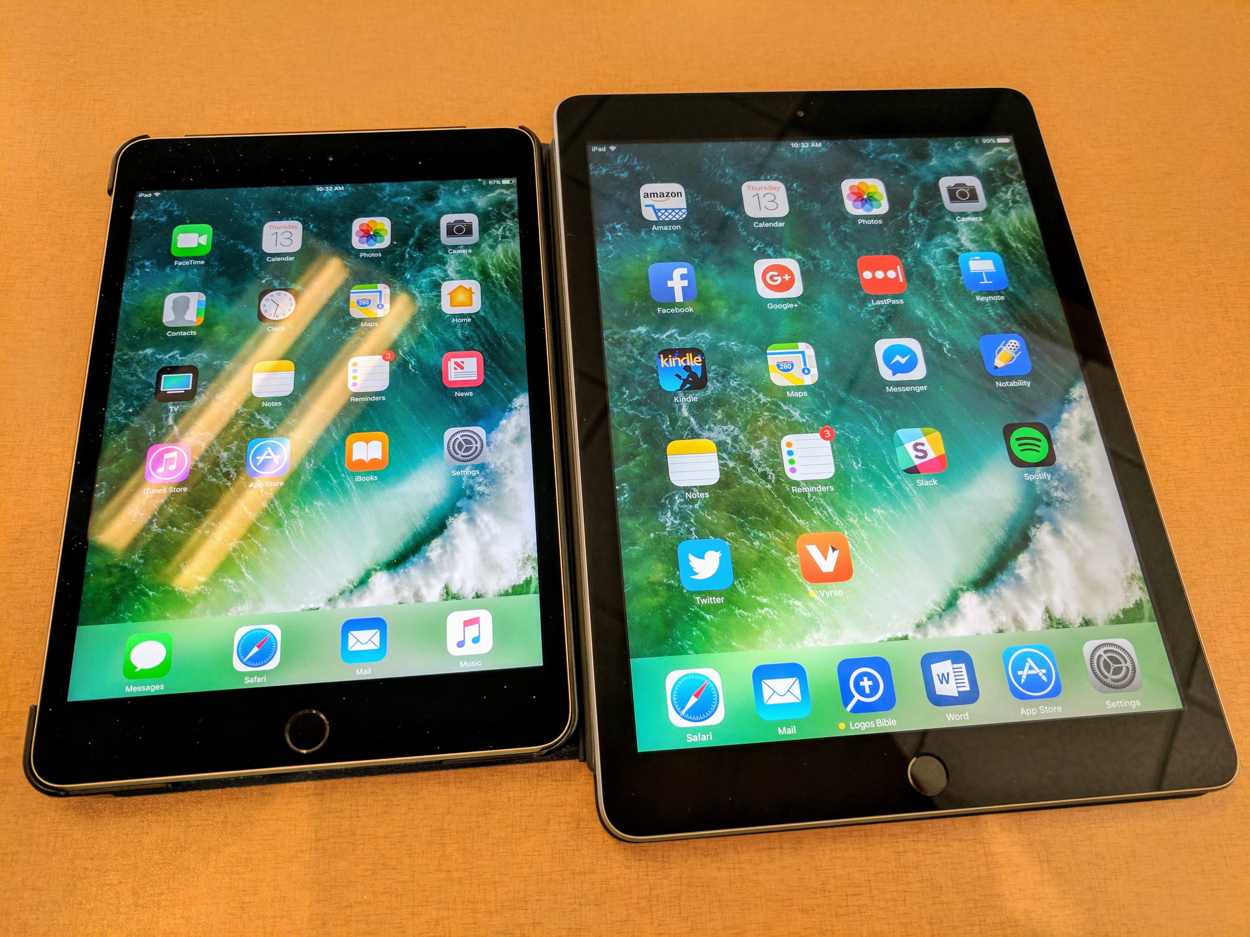ipad mini 4 v 2017 9.7-inch ipad