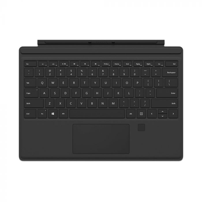 Surface Pro 4 Type Cover with Fingerprint Reader